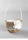 Rustic Burlap & Lace Flower Girl Basket