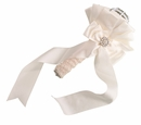 Satin Bouquet Holder - Ivory