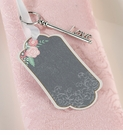 Set of 24 Chalk Style Flower Key Tags