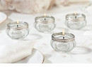Set of 4 Glass Tealight Cups