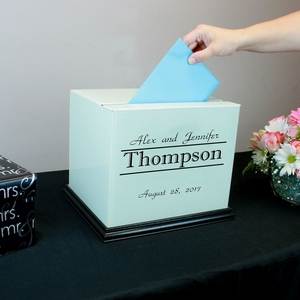 Signature White Rectangle Wedding Card Box