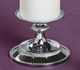 Silver Beaded Taper Candle Stand