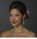 Silver CZ Necklace & Earring Set