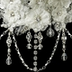 Silver Diamond White Accent Fabric & Clear Crystal Necklace & Earrings Set