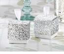 Silver Glitter Favor Box (Quanity of 24)