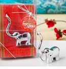 Silver Good Luck Elephant Ring Holder