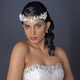 Silver Ivory Floral Lace Side Headband