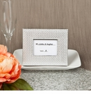 Silver Metallic Photo Frame with Textured Leatherette Diamond Finish