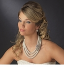 Silver White Necklace Earring Set