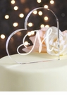 Single Initial Acrylic Heart Cake Top