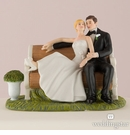 Sitting Pretty On Bench Cake Topper
