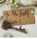 Skeleton Key Bottle Opener Placecard