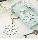 Stunning Snowflake Silver Metal Keychain