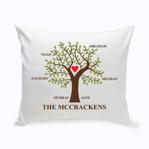 Traditional Family Tree Throw Pillow