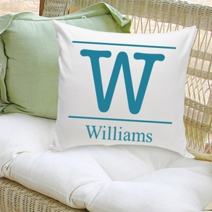 Typeset Family Initial Decorative Pillow