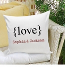 Typeset Love Decorative Throw Pillow