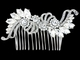 Vintage Chic Crystal Bridal Hair Comb - Clear
