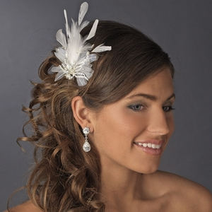 Vintage Feather Bridal Hair Comb