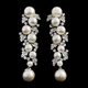 Vintage Starlet Pearl & Crystal Earrings