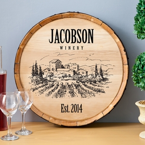 Vinyard Wine Barrel Decor