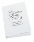 Personalized Wedding Ring Book