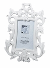 White Scroll Frame