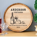 Wine & Cheese Barrel Sign Decor