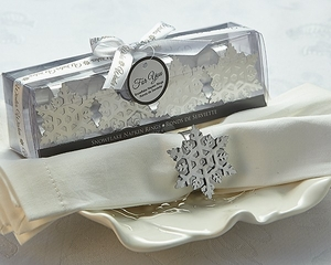 Winter Wishes Snowflake Napkin Rings