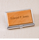 Wood Business Card Case