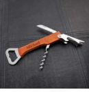 Wood Handled Wine & Bottle Opener Multi-tool