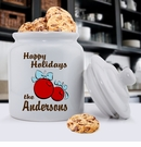 X-Mas Bulbs Personalized Holiday Cookie Jar