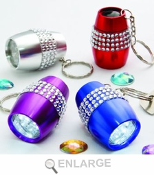 Bling LED Flashlight Keychain Favors