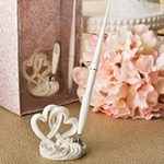 Wedding Guest Pen and Holder