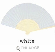 White Silk Fans for Weddings