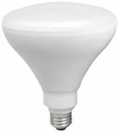12W LED Elite Series Dimmable BR40 24K Light Bulb - TCP Brand