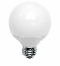 14 Watt G25 Globe With Armor Coat 4G2514A41K Cool White CFL
