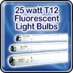 Sylvania 25 watt T12 Fluorescent Light Bulbs