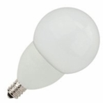 4W LED Elite Series Dimmable 27K Candelabra Frosted G16 Globe Light Bulb - TCP Brand
