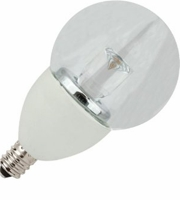 5W LED Elite Series Dimmable 27K Candelabra G16 Globe Light Bulb - TCP Brand
