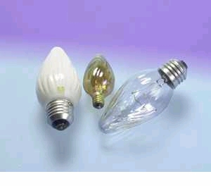 60F/IC/BL/2PK 120V Decorative Flame Light Bulb