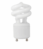 9W - UNCOVERED SPRINGLAMP®  - GU24 BASE - 50K - TCP Brand