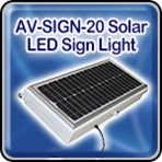 Avlite AV-SIGN-20 Solar LED Sign Light