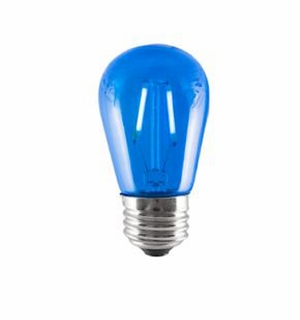 BULBRITE 2W LED Sign & Half Chrome Filament Blue Light Bulb - 776564