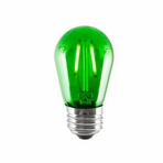 BULBRITE 2W LED Sign & Half Chrome Filament Green Light Bulb - 776561