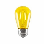 BULBRITE 2W LED Sign & Half Chrome Filament Yellow Light Bulb - 776562