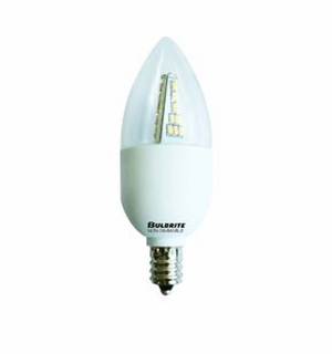 BULBRITE 3W LED Chandelier Warm White Light Bulb Non-Dimmable – 770404