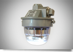 Dialight SafeSite Series LED White Visual Signal - Ceiling Mount - RTO2W18005