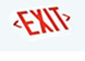 Dual Circuit Red  LED Exit Sign - White Housing - (TCP Brand)