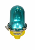 FEC LED Blue Pole Mounted Perimeter Light