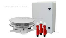 FTS 2201-2 Red LED L-864 Tower Beacon in AC or DC power with LED L-810 Markers - SPX Corp